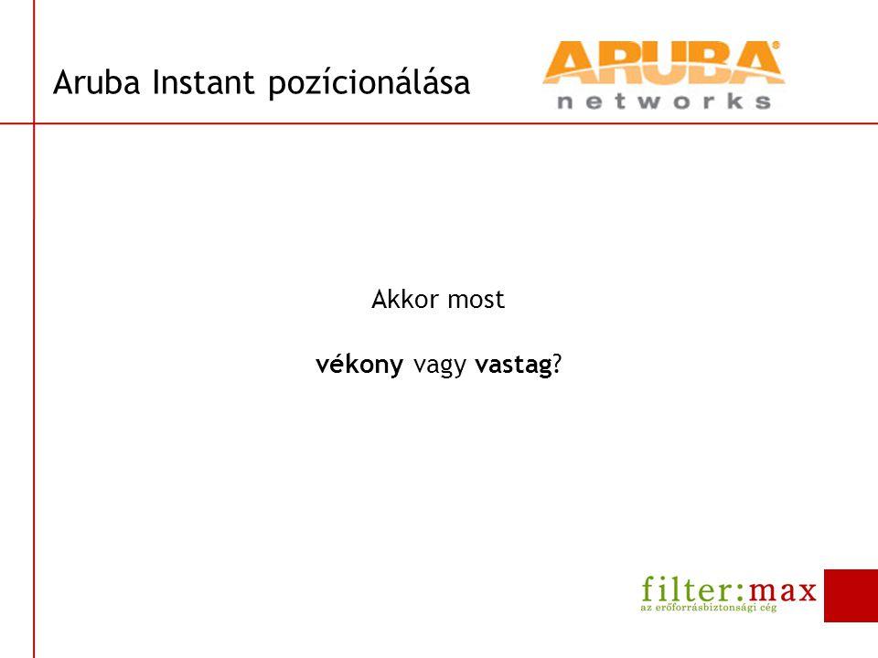 Aruba Instant pozícionálása