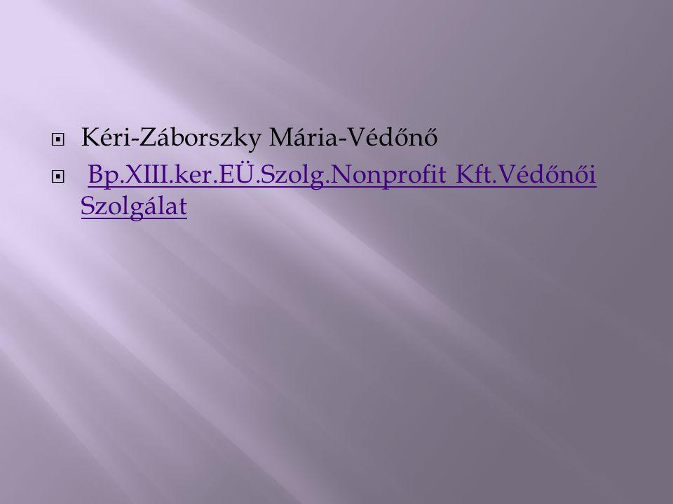 Kéri-Záborszky Mária-Védőnő