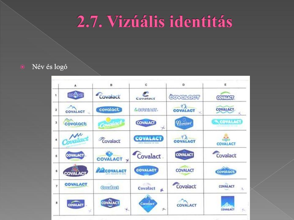 2.7. Vizúális identitás Név és logó