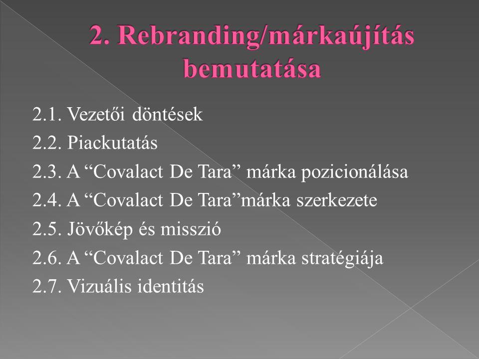 2. Rebranding/márkaújítás bemutatása