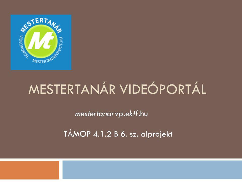 Mestertanár VideÓportál