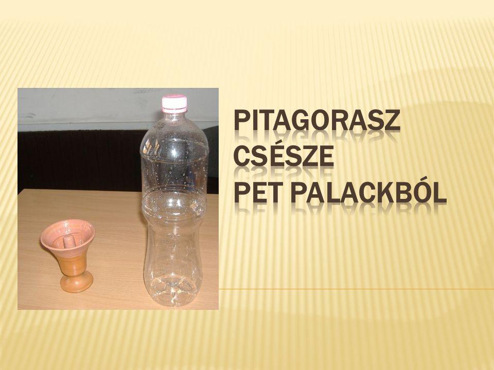 Pitagorasz csésze PET palackból