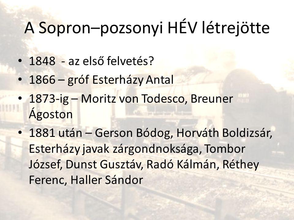 A Sopron–pozsonyi HÉV létrejötte