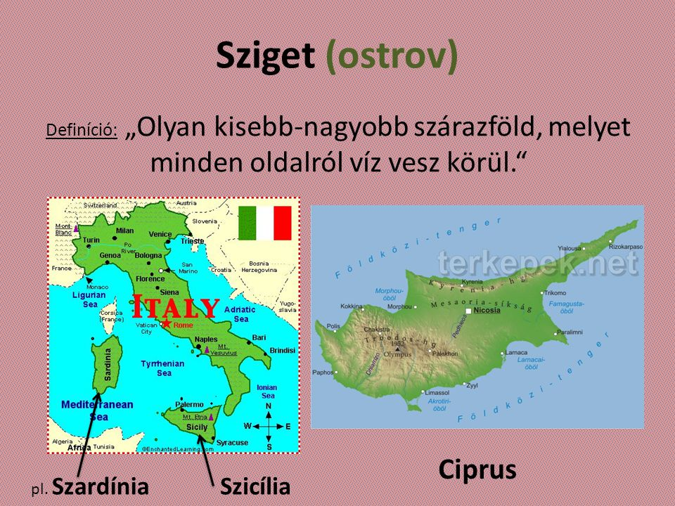 Sziget (ostrov) Ciprus Szicília