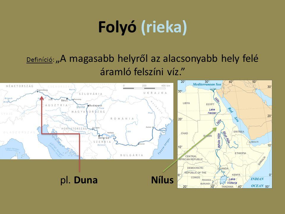 Folyó (rieka) pl. Duna Nílus