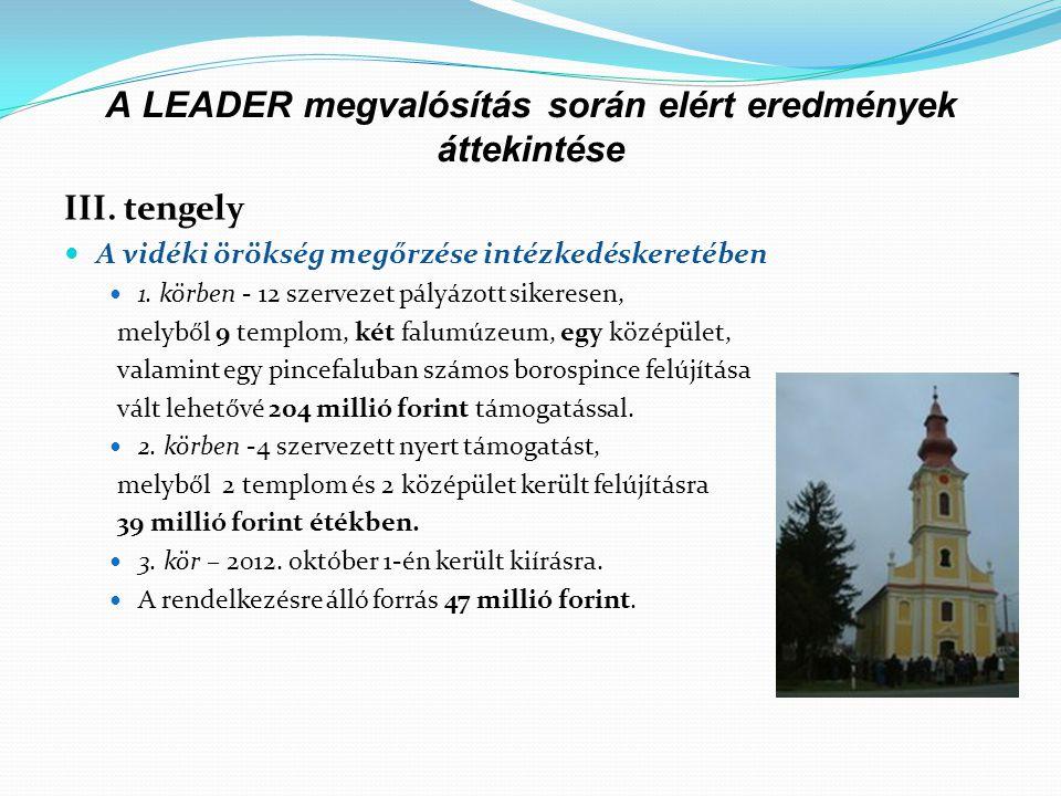 A LEADER megvalósítás során elért eredmények áttekintése