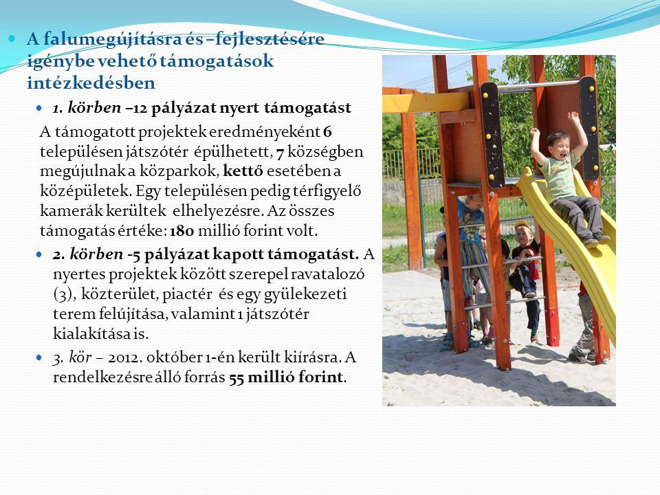 A falumegújításra és –fejlesztésére igénybe vehető támogatások intézkedésben