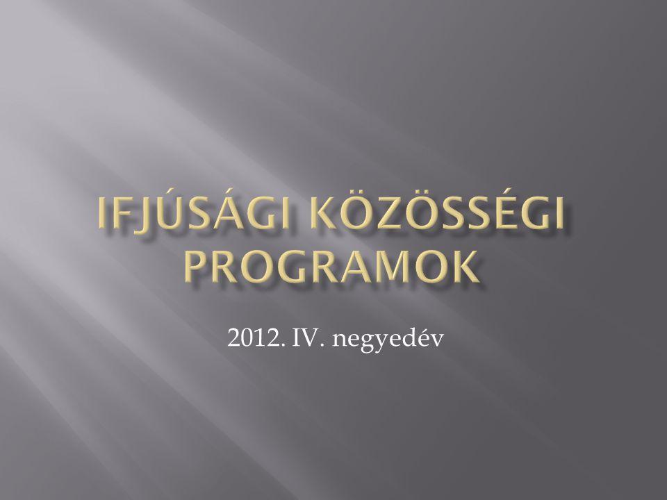 Ifjúsági közösségi programok