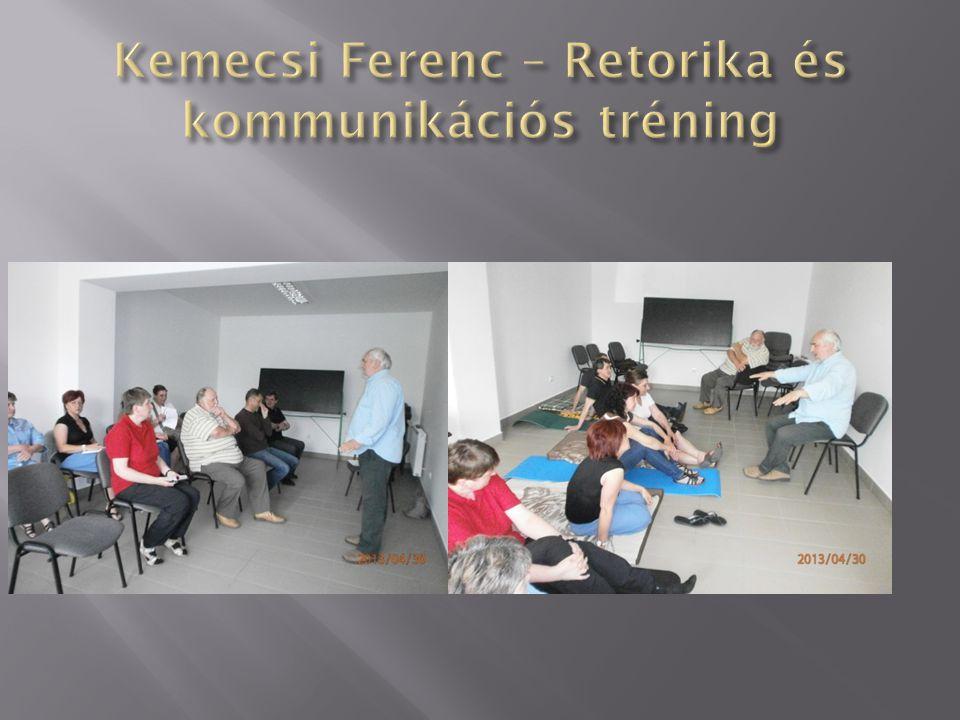 Kemecsi Ferenc – Retorika és kommunikációs tréning