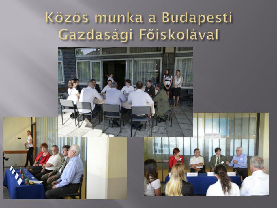 Közös munka a Budapesti Gazdasági Főiskolával