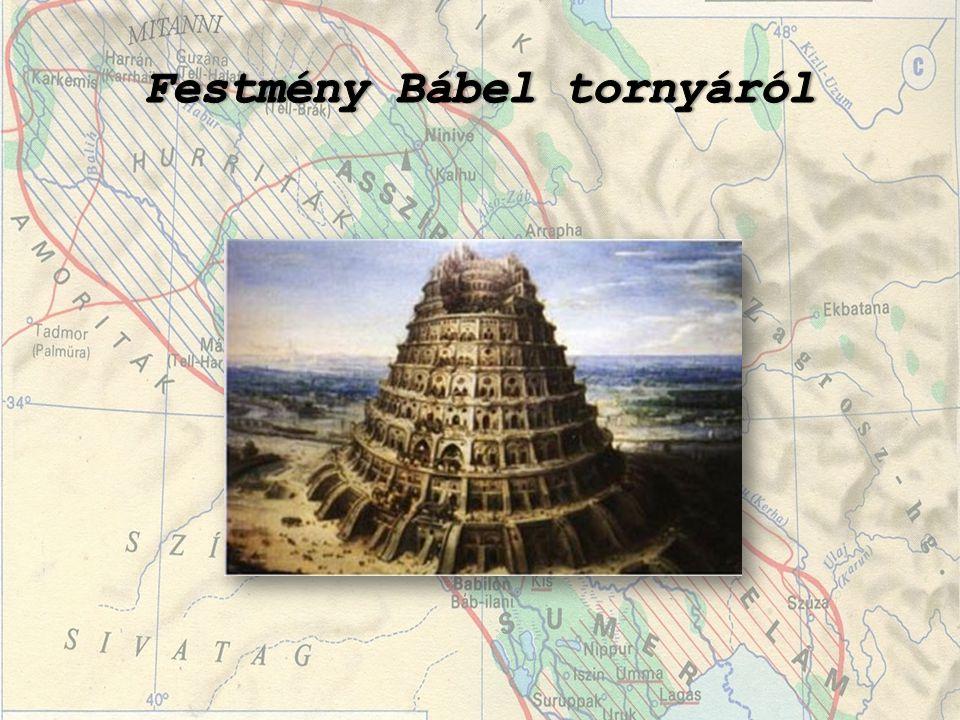 Festmény Bábel tornyáról