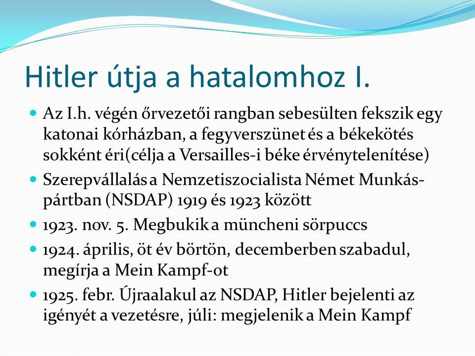 Hitler útja a hatalomhoz I.