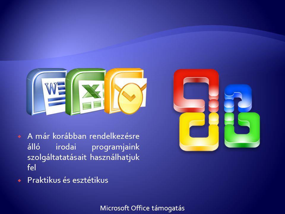 Microsoft Office támogatás