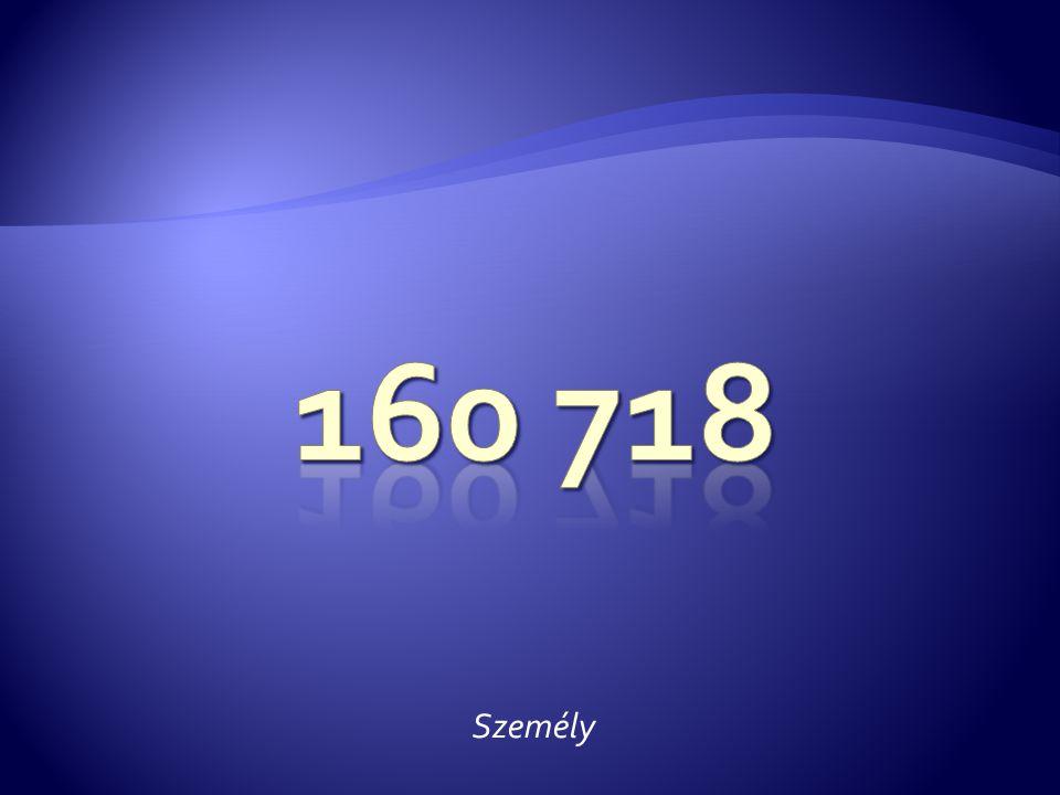 160 718 Személy