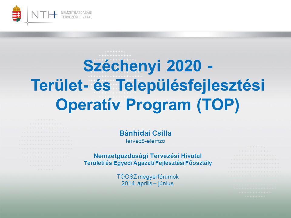 Széchenyi 2020 - Terület- és Településfejlesztési Operatív Program (TOP)