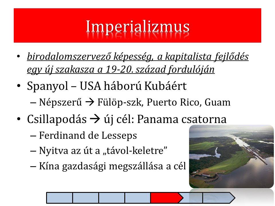 Imperializmus Spanyol – USA háború Kubáért