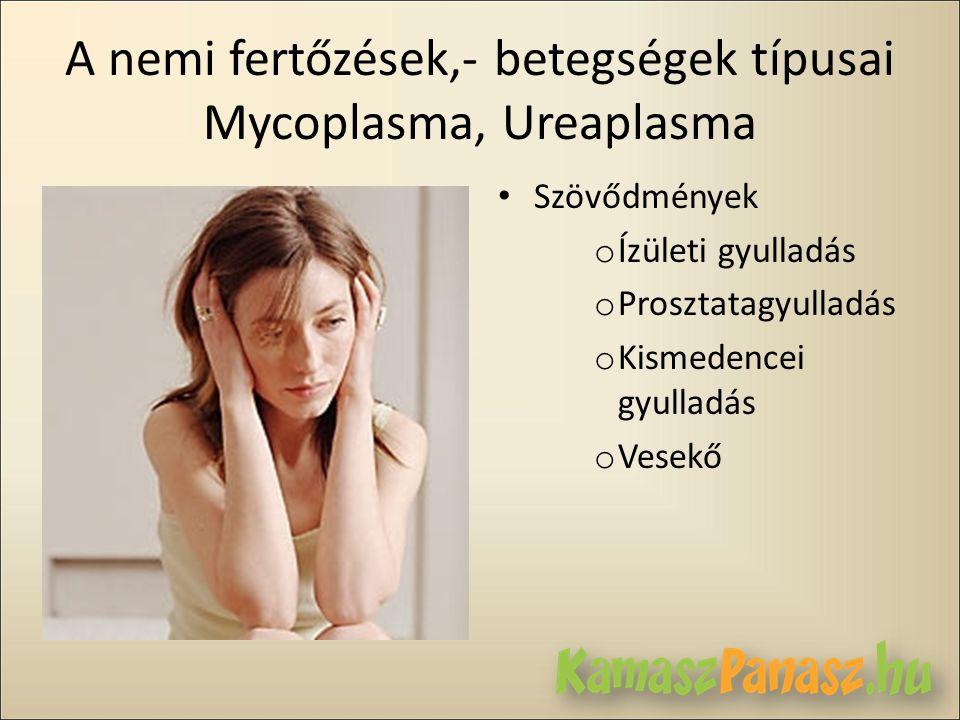 A nemi fertőzések,- betegségek típusai Mycoplasma, Ureaplasma