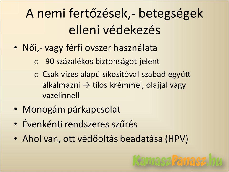 A nemi fertőzések,- betegségek elleni védekezés