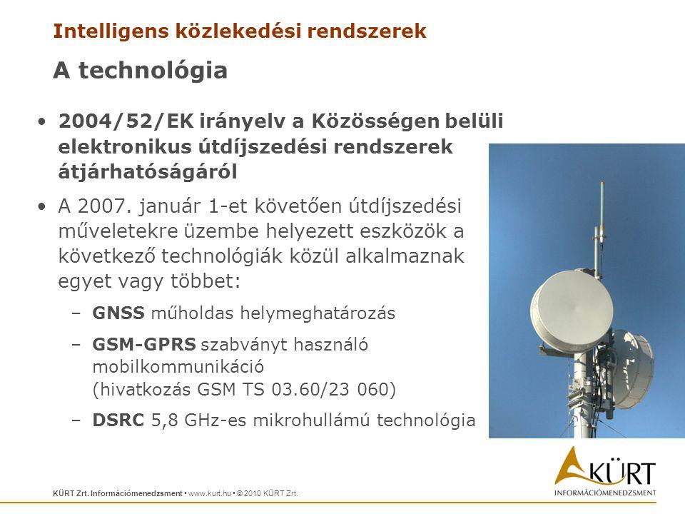 A technológia 2004/52/EK irányelv a Közösségen belüli elektronikus útdíjszedési rendszerek átjárhatóságáról.