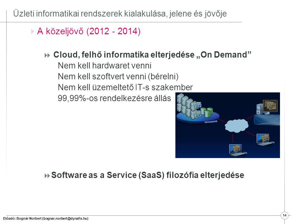 Üzleti informatikai rendszerek kialakulása, jelene és jövője