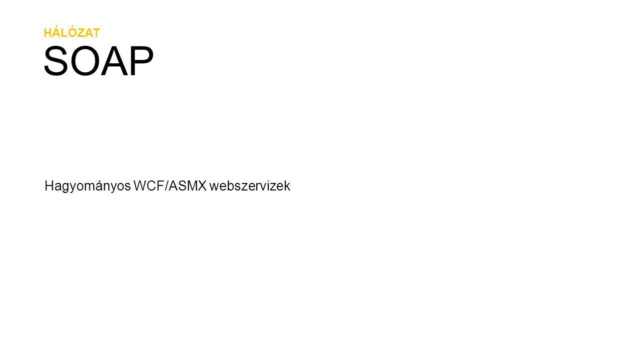 HÁLÓZAT SOAP Hagyományos WCF/ASMX webszervizek