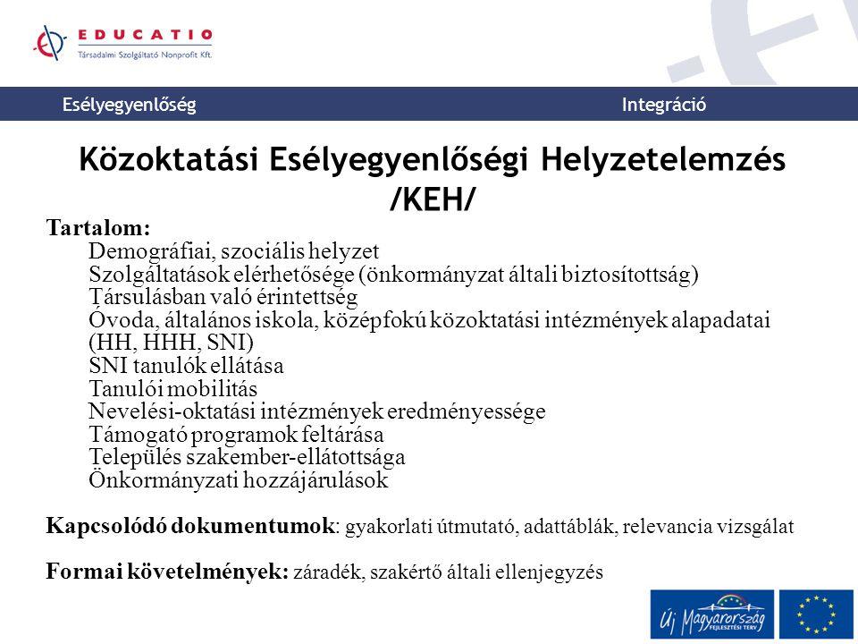 Közoktatási Esélyegyenlőségi Helyzetelemzés /KEH/