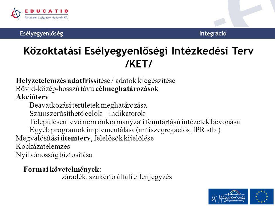 Közoktatási Esélyegyenlőségi Intézkedési Terv /KET/