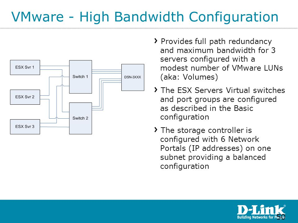 VMware - High Bandwidth Configuration