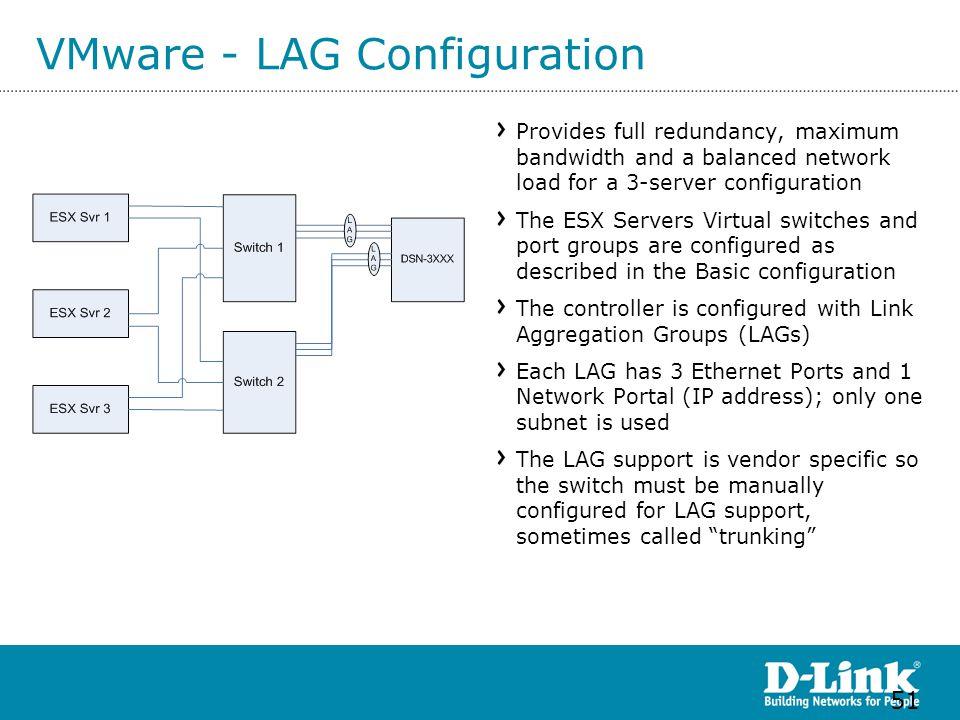VMware - LAG Configuration