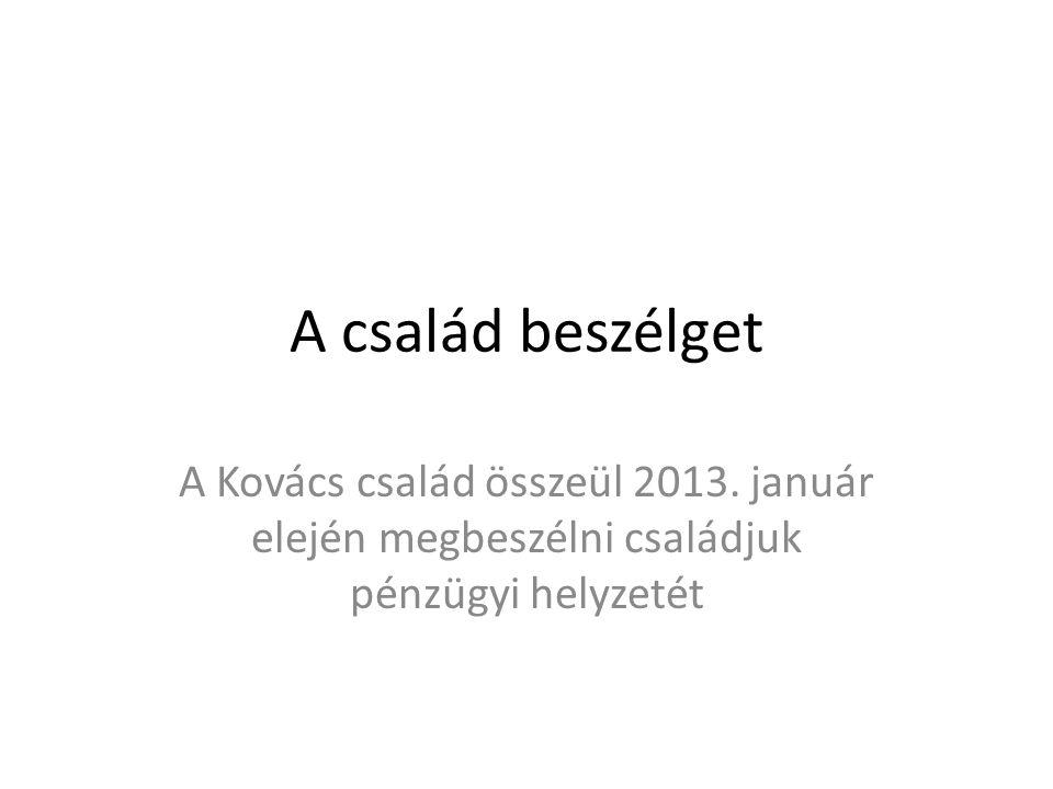 A család beszélget A Kovács család összeül 2013.