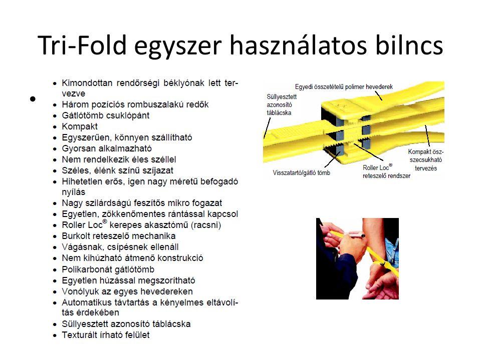 Tri-Fold egyszer használatos bilncs