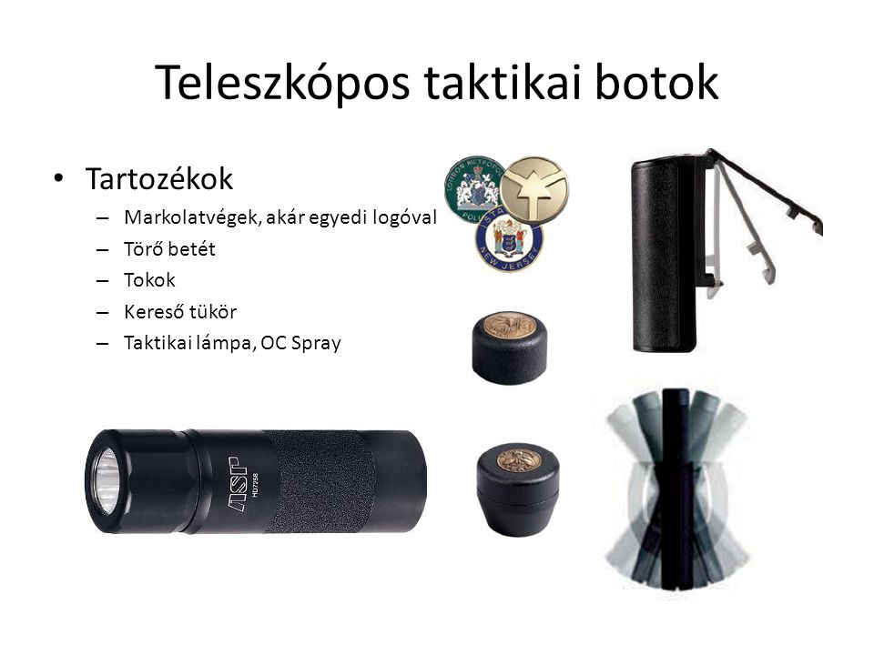 Teleszkópos taktikai botok