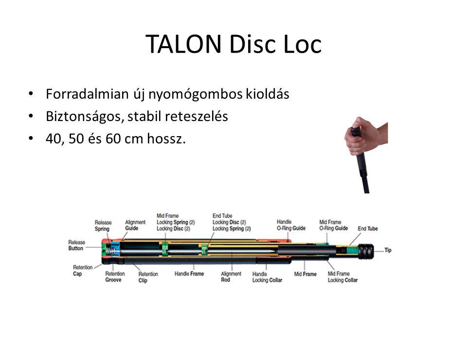 TALON Disc Loc Forradalmian új nyomógombos kioldás