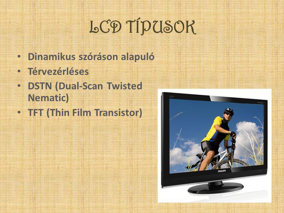 LCD TÍPUSOK Dinamikus szóráson alapuló Térvezérléses