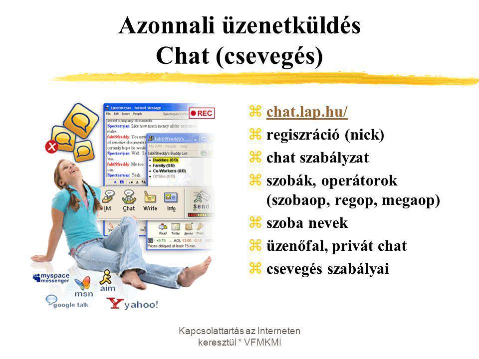 Azonnali üzenetküldés Chat (csevegés)