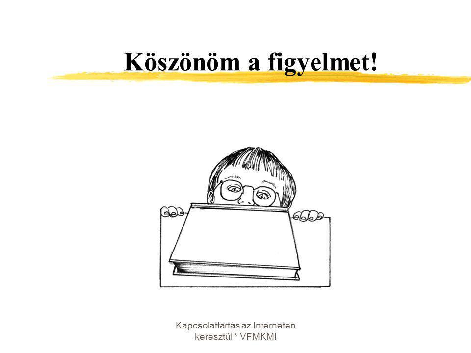 Kapcsolattartás az Interneten keresztül * VFMKMI