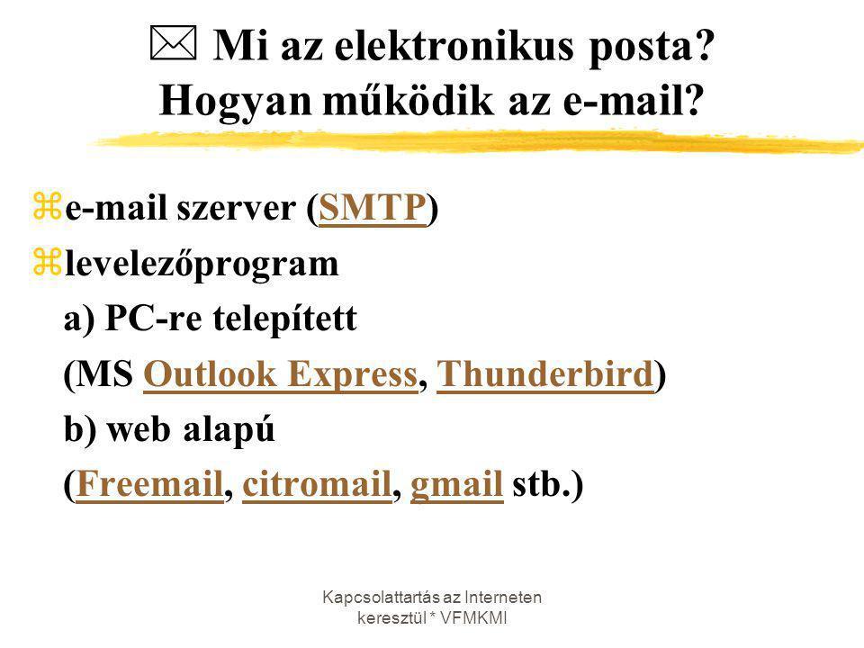  Mi az elektronikus posta Hogyan működik az e-mail