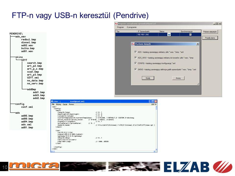 FTP-n vagy USB-n keresztül (Pendrive)
