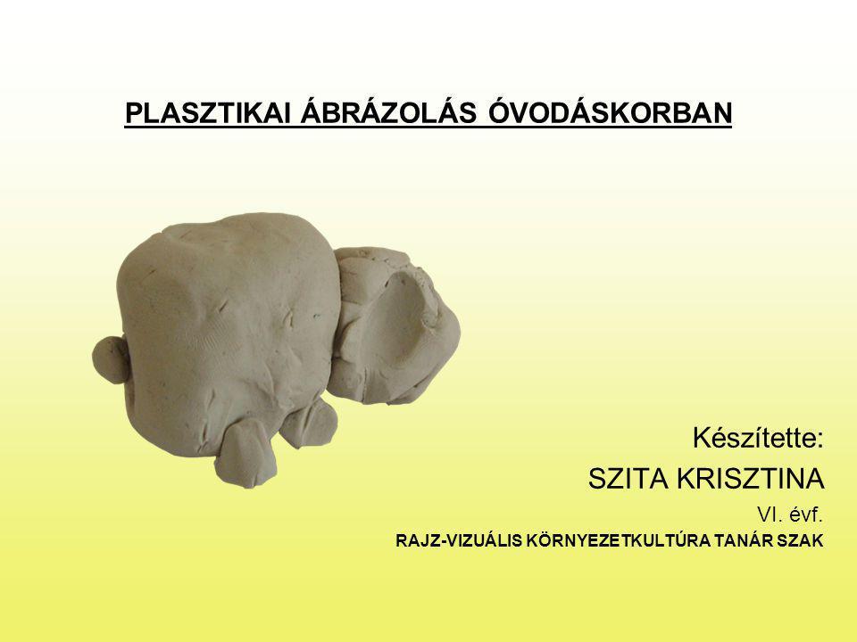 PLASZTIKAI ÁBRÁZOLÁS ÓVODÁSKORBAN