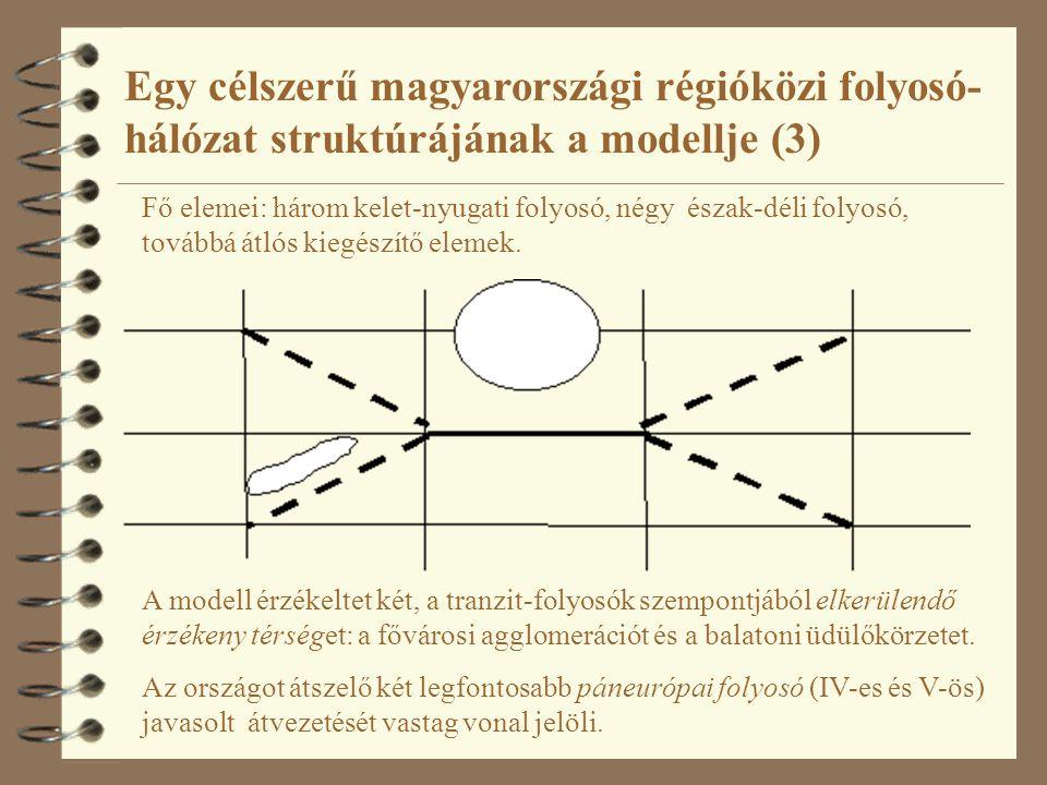 Egy célszerű magyarországi régióközi folyosó- hálózat struktúrájának a modellje (3)