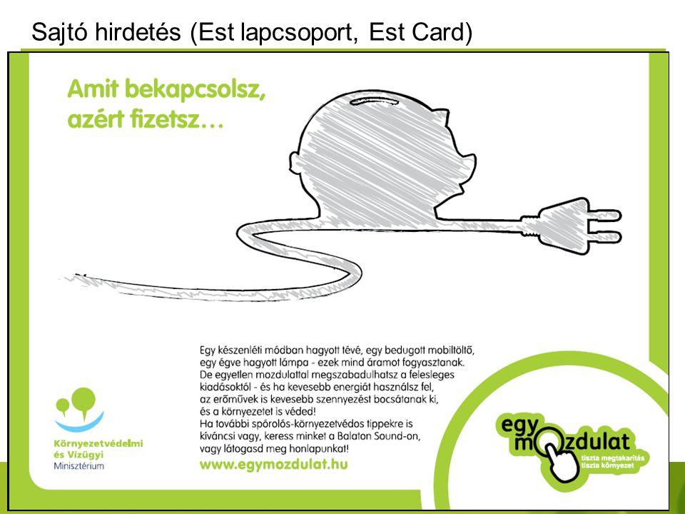 Sajtó hirdetés (Est lapcsoport, Est Card)