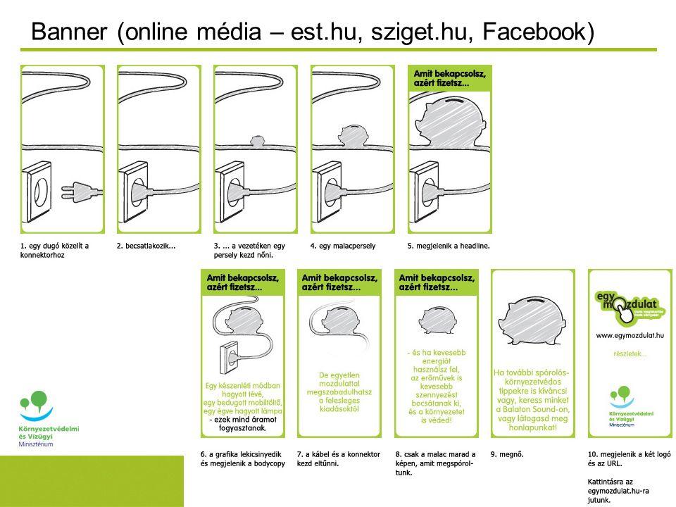 Banner (online média – est.hu, sziget.hu, Facebook)