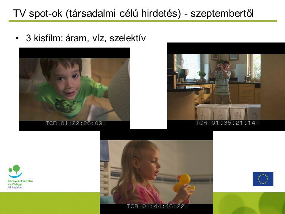 TV spot-ok (társadalmi célú hirdetés) - szeptembertől