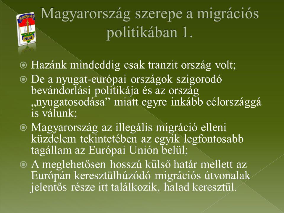 Magyarország szerepe a migrációs politikában 1.