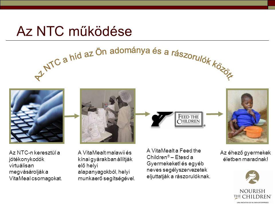 Az NTC működése Az NTC a híd az Ön adománya és a rászorulók között.