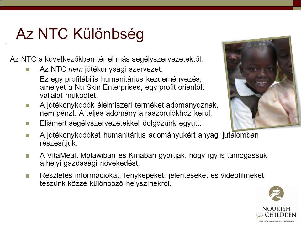Az NTC Különbség Az NTC a következőkben tér el más segélyszervezetektől: Az NTC nem jótékonysági szervezet.