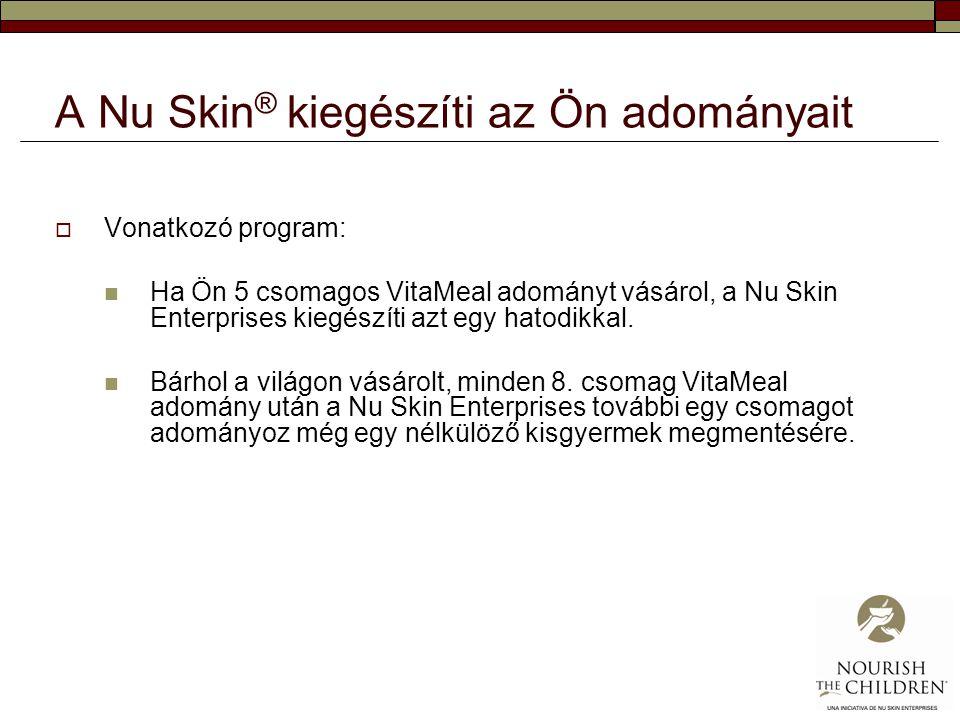 A Nu Skin® kiegészíti az Ön adományait