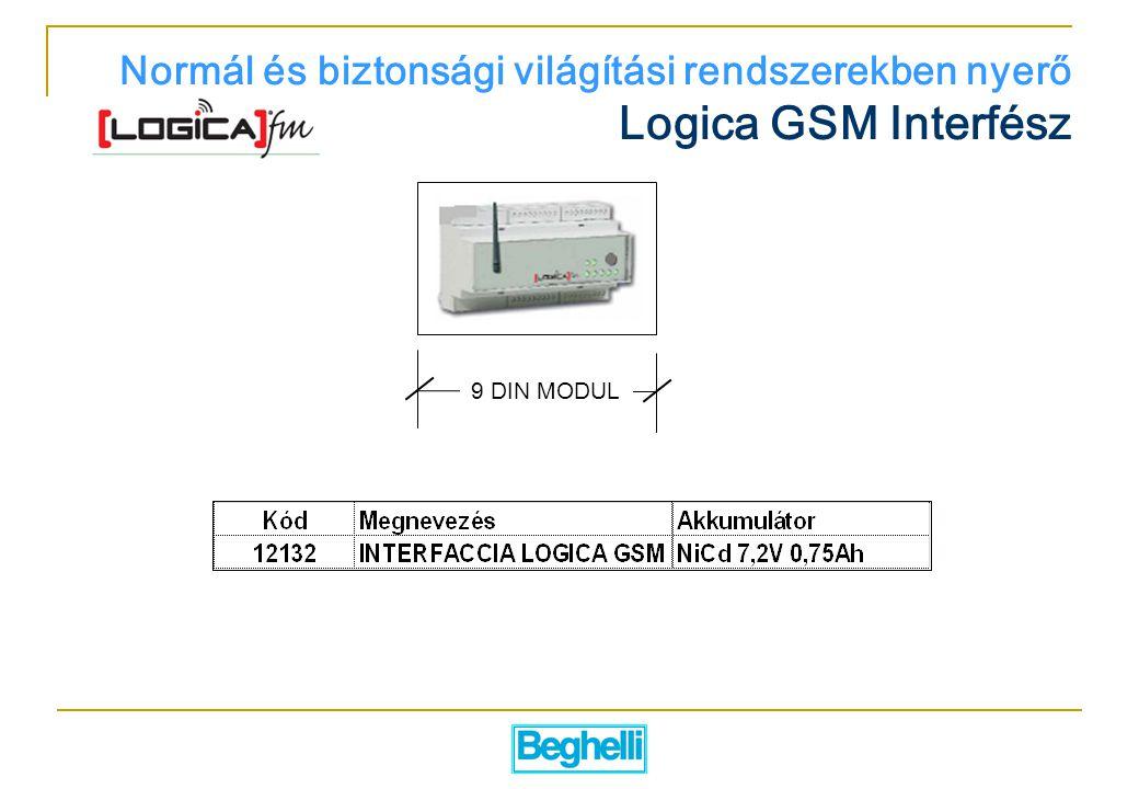 Normál és biztonsági világítási rendszerekben nyerő Logica GSM Interfész
