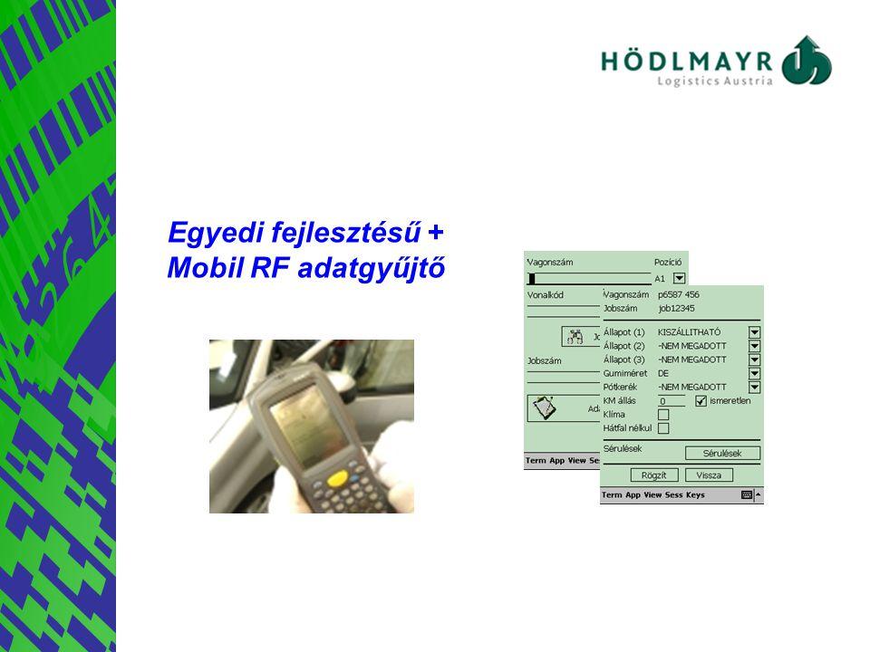 Egyedi fejlesztésű + Mobil RF adatgyűjtő Megoldás
