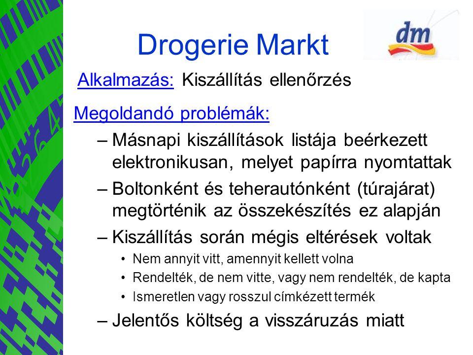 Drogerie Markt Alkalmazás: Kiszállítás ellenőrzés